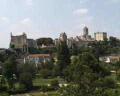 Château baronial ou des Evêques de Poitiers - Deutsch: Blick auf Chauvigny