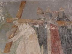 Eglise Notre-Dame - Français:   L\'humanité associée aux souffrances du Christ. Peinture murale de l\'église Notre-Dame de Chauvigny (86).