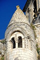 Eglise Saint-Pierre - Deutsch: St.-Pierre Chauvigny, Treppentürmchen mit helm