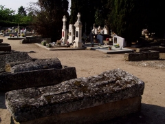 Cimetière gallo-romain -  Sarcophages mérovingiens de Civaux dans la Vienne (France)