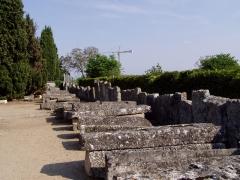 Cimetière gallo-romain -  Sarcophages mérovingiens de Civaux dans le département de la Vienne (France)