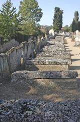Cimetière gallo-romain - Deutsch: Civaux, Nekropole, Sarkophage in Reihe am