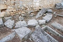 Cimetière gallo-romain - Deutsch: Civaux, Nekropole,Kapelle, Apsisfundament