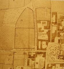 Cimetière gallo-romain - Deutsch: Civaux,merow. Nekropole, Grafik von 1747,