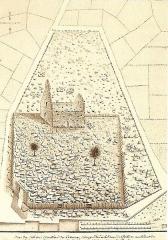 Cimetière gallo-romain - Deutsch: Civaux, merowing. Nekropoler,Grafik 18.Jh.