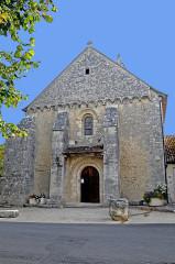 Eglise Saint-Gervais Saint-Protais - Deutsch: Civaux, Kirche, Westwand