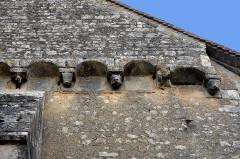 Eglise Saint-Gervais Saint-Protais - Deutsch: Civaux, Kirche Giebeldetail