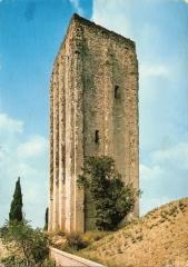 Château -  Tour carrée de la ville de Loudun (Vienne).