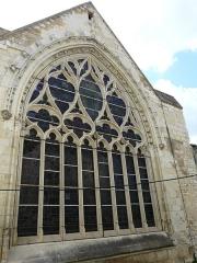 Couvent des Carmes - Français:   Le vitrail du chevet de l\'église Saint-Hilaire du Martray, Loudun, Vienne, France