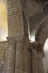 Eglise Notre-Dame-et-Saint-Junien - Deutsch: Kirche Notre-Dame-et-Saint-Junien in Lusignan im Département Vienne (Nouvelle-Aquitaine/Frankreich), Kapitelle