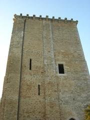 Château et église Notre-Dame -  Façade est du Donjon de Moncontour.