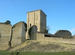 Château et église Notre-Dame -  Description =Le donjon de Moncontour  Source =Photo taken by Remi Jouan Date =Février 2006 Author =Remi Jouan
