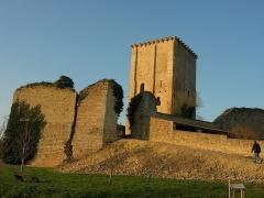 Château et église Notre-Dame -  Vue extérieure du Donjon de Moncontour.