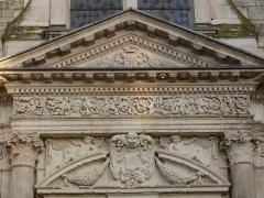 Eglise Saint-Jean de Montierneuf -  17th century (1644) pediment of Saint-Jean de Montierneuf abbey, Poitiers, France