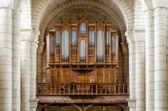 Eglise Saint-Hilaire - L'orgue de l'église saint Hilaire-le-Grand à Poitiers (Vienne, France), construit en 1884 par Gaston Maille, modifié par Louis Debierre en 1902, restauré par Gérard Bancells en 2006.