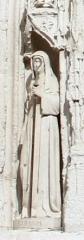 Eglise Sainte-Radegonde - English: Saint Agnes de Poitiers, statue of late 19th century at Ste. Radegonde, Poitiers ([1])