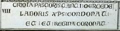 Eglise Sainte-Radegonde - crimina  pastoris tanti mercede laboris christus condonat et eum regina corona, publié dans