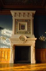 Hôtel de ville - Français:   Cheminée de l\'ancienne salle du Conseil, dite aujourd\'hui \