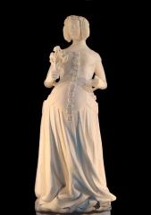 Ancien Palais des Comtes de Poitiers - English: Statue of Isabeau of Bavaria, Queen consort of Charles VI of France. Palais de justice de Poitiers.