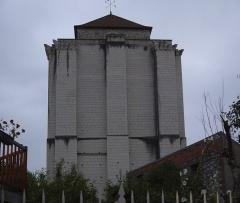 Donjon - Français:   Le donjon de La Roche-Posay - partie haute, vue d\'une face