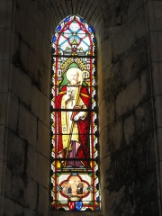 Eglise Saint-Sylvain - English: Église Saint-Romain de Saint-Sauvant, vitrail 5