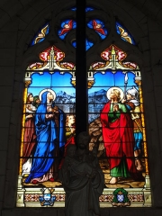 Eglise Saint-Sylvain - English: Église Saint-Romain de Saint-Sauvant, vitrail 6