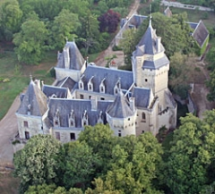 Château de Ternay -  Vue du château de Ternay