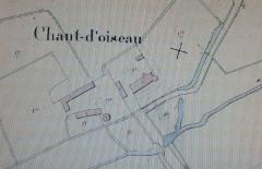 Manoir de Champdoiseau - Français:   Chandoiseau Plan Cadastre Napolénien