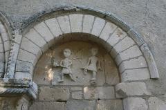 Eglise Saint-Hilaire de Salles-en-Toulon -  Eglise Saint Hilaire à Salles-en-Toulon ( Vienne )