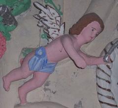 Eglise Sainte-Anne - English:   Detail of the chapel devoted to Saint Thérèse de Lisieux in the church of Sainte-Anne (Saint-Benoît, Réunion Island).