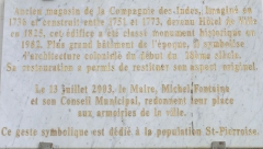 Hôtel de ville - Français:   Saint-Pierre (La Réunion) - Hôtel de ville - Plaque commémorative