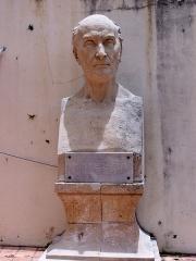 Musée Schoelcher - English: Buste de Victor Schœlcher dans le musée Schœlcher de Pointe-à-Pitre