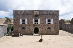 Fort Napoléon - English: Facade of Fort Napoléon des Saintes, Terre-de-Haut Island, Îles des Saintes, Guadeloupe, France.