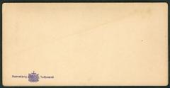 Maison de Dreyfus, sur l'île du Diable - Deutsch: Revers der Stereoskopie im Alleinvertrieb von F. Hamel, mit Eigentumsstempel und Hinweis auf die Sammlung von Fritz Lachmund