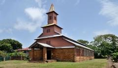Chapelle de l'île Royale - English: Chapel of the convict prison on île Royale in French Guiana.