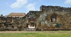 Iles du Salut - îles Royale, Saint-Joseph et du Diable - English: Ile Royale, French Guiana: ruins of the convict prison