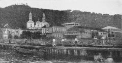 Ancienne cathédrale Notre-Dame-de-l'Assomption, actuellement église du Mouillage - English: St Pierre, Martinique before the eruption