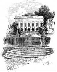 Ancien théâtre - English: The theatre in Saint-Pierre, Martinique, by illustrator Henry Summer Watson