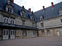 Château de Fléville - English: Facades of the château de Fléville