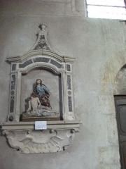 Eglise - Français:   statue en l\'église de Liverdun.