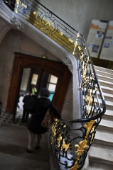 Hôtel de Ferrary ou Ferraris - English: Indoor stairs, Hôtel Ferraris, Nancy (France)