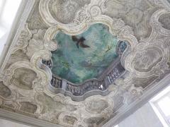Hôtel de Ferrary ou Ferraris - Deutsch: Hôtel Ferraris in Nancy im Département Meurthe-et-Moselle (Lothringen/Frankreich), Decke des Treppenhauses
