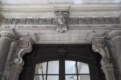 Hôtel de Ferrary ou Ferraris - Deutsch: Hôtel Ferraris in Nancy im Département Meurthe-et-Moselle (Lothringen/Frankreich), Maskaron über dem Eingang
