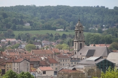 Eglise Saint-Laurent - English: Pont-à-Mousson, view from the cemetery to the Saint Lawrence church