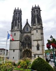 Eglise Saint-Martin - Deutsch: Fassade von St. Martin, Pont-à-Mousson, Département Meurthe und Mosel, Region Lothringen (heute Großer Osten), Frankreich