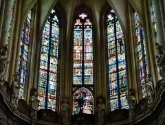 Eglise Saint-Martin - Deutsch: Chorfenster von St. Martin, Pont-à-Mousson, Département Meurthe und Mosel, Region Lothringen (heute Großer Osten), Frankreich
