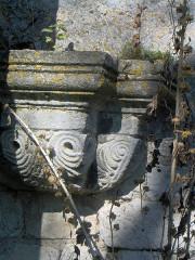 Abbaye Sainte-Marie-aux-Bois -  abbaye sainte-marie-au-bois chapiteau batiment conventuel facade sud