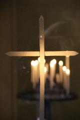 Eglise Saint-Pantaléon - Français:   Cierges dans l\'église