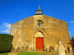 Cimetière - English: Marville St Hilaire church