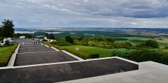 Monument commémoratif américain - Deutsch: Blick vom US-Kriegsdenkmal, Montsec, Département Maas, Region Lothringen (heute Großer Osten), Frankreich